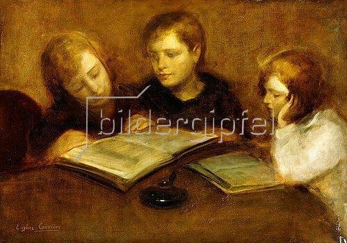Eugène Carrière: Lesende Mädchen.