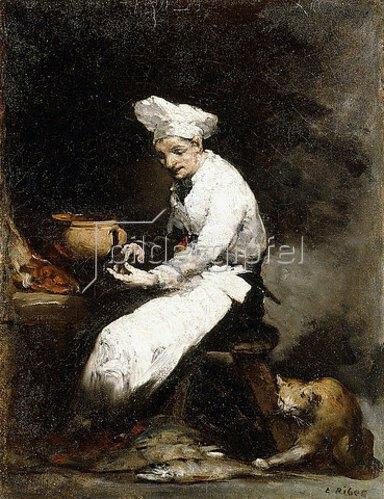 Théodule Augustin Ribot: Der Koch und die Katze.