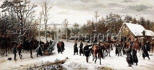 Konrad Freyberg: Ankunft des Prinzen Friedrich Karl von Preußen auf dem Schlachtfelde von Vionville. 1876
