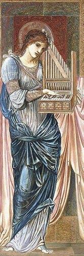 Sir Edward Burne-Jones: Die hl. Cäcilie.
