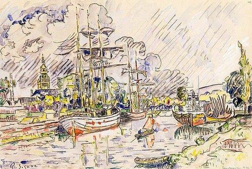 Paul Signac: Der Hafen von Landerneau. 1921