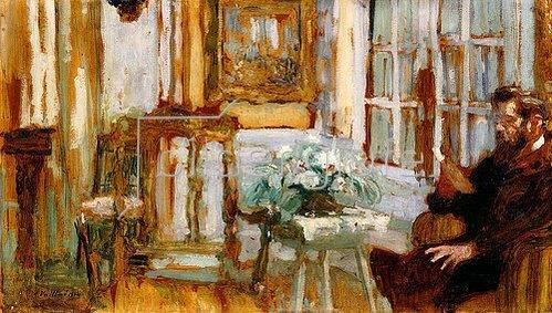 Edouard Vuillard: Monsieur Arthur Fontaine in seinem Wohnzimmer. 1904