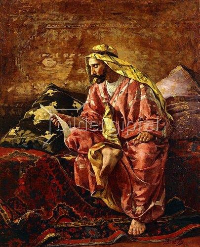 Henri Pierre Hippolyte Dubois: Ein Araber beim Lesen eines Briefes.