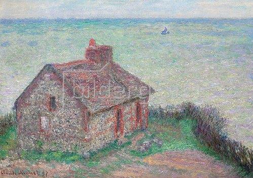 Claude Monet: La maison du Douanier, effet rose. 1897.
