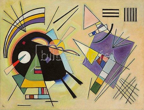 Wassily Kandinsky: Schwarz und Violett. 1923.