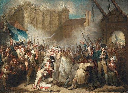 Henry Singleton: Der Sturm auf die Bastille.