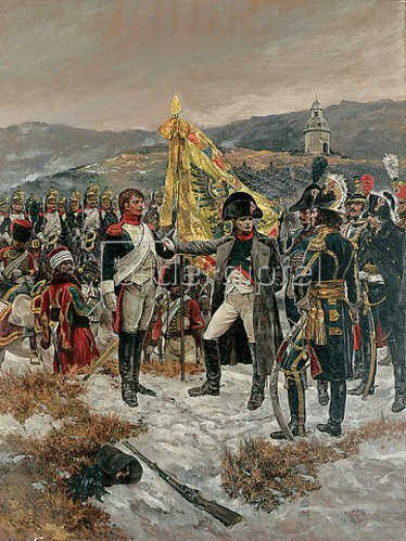 Richard Caton Woodville: Napoleon conferring the Croix d'Honneur on a French Trooper