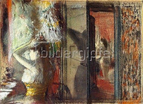 Edgar Degas: Garderobe der Schauspielerinnen (Loge d'Actrices). Um 1885