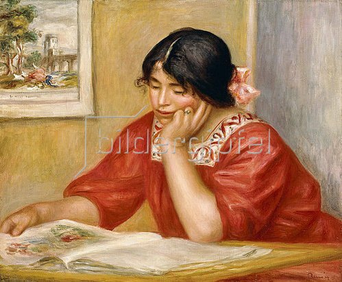 Auguste Renoir: Leontine beim Lesen (Leontine Lisant). 1909