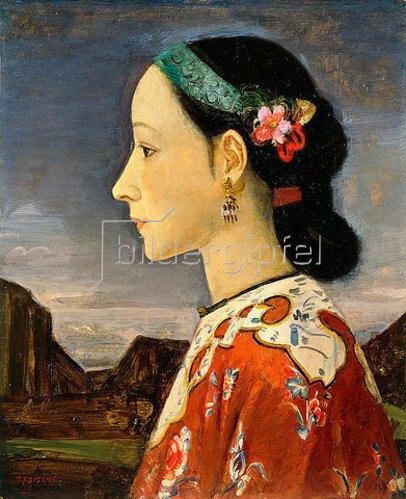 Takeji Fujishima: Frau im Profil. 1926-27