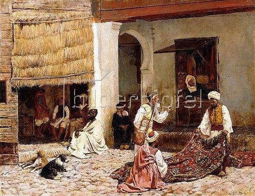 Edwin Lord Weeks: Ein Teppich-Basar in Tanger. 1878