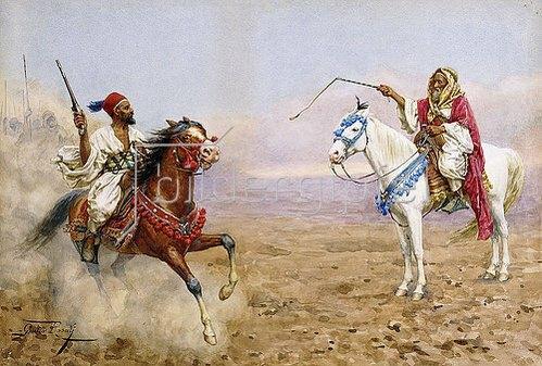 Giulio Rosati: Arabische Reiter.