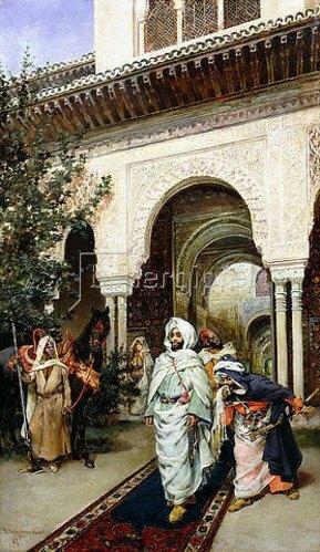 Harry Humphrey Moore: Beim Verlassen der Alhambra. 1887