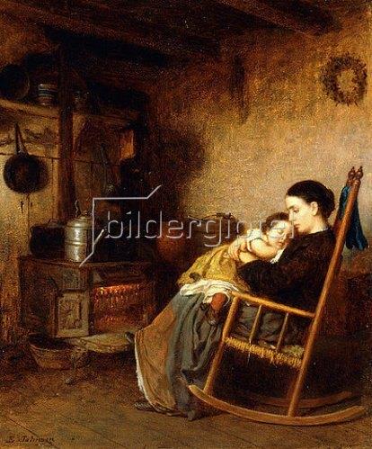 Eastman Johnson: Mutter und Kind. 1868