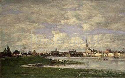 Eugène Boudin: Blick auf Antwerpen.