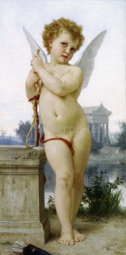 William Adolphe Bouguereau: Ausruhender Amor (L'Amour au Repos). 1891