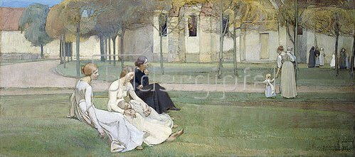 Adrien Karbowsky: Im Garten der Pröpstin (Le Jardin du Prieure). 1894