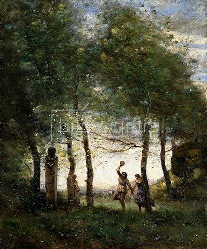 Jean-Baptiste Camille Corot: Kleines Bacchanal. 1874