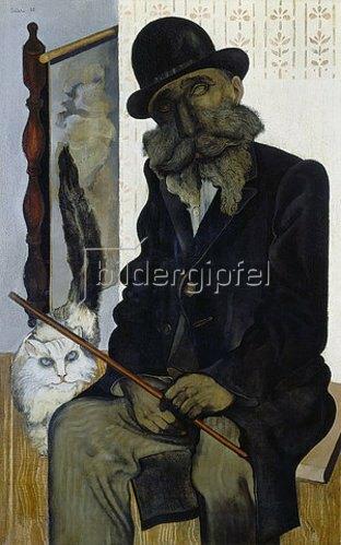 Jankel Adler: Herr Cleron, der Katzenzüchter. 1925.