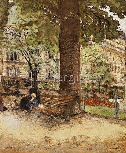 Edouard Vuillard: Die Bank, Place Vintimille. 1917-18