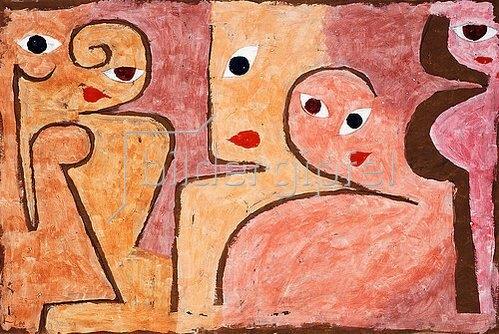 Paul Klee: Gruppe macht Augen. 1938