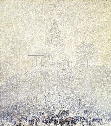 Frederik Usher de Voll: Der Madison Square im Winter.