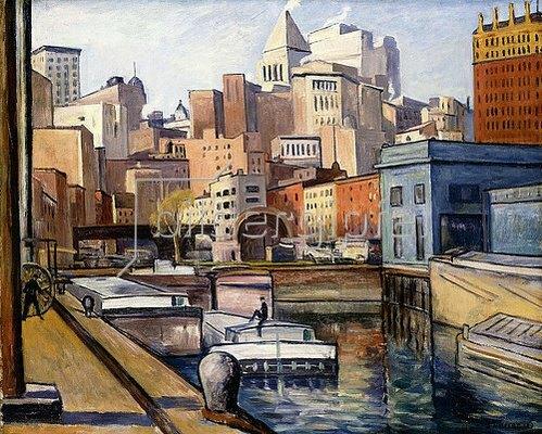 Samuel Halpert: Downtown. 1922