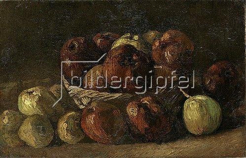Vincent van Gogh: Stillleben: Korb mit Äpfeln. 1885.