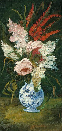 Vincent van Gogh: Stillleben: Vase mit Galidolen und Flieder. 1886.