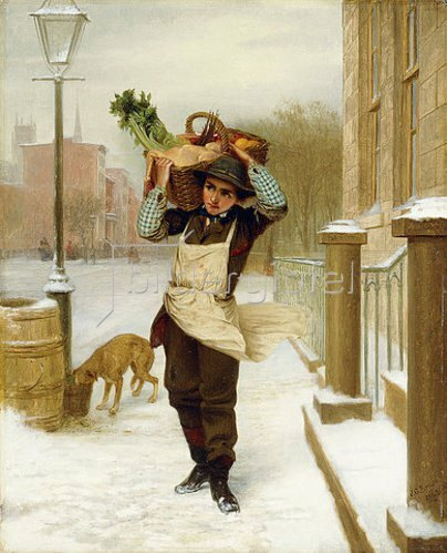 John George Brown: Der Lieferjunge. 1863
