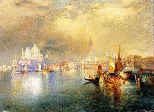 Thomas Moran: Venedig bei Mondschein.