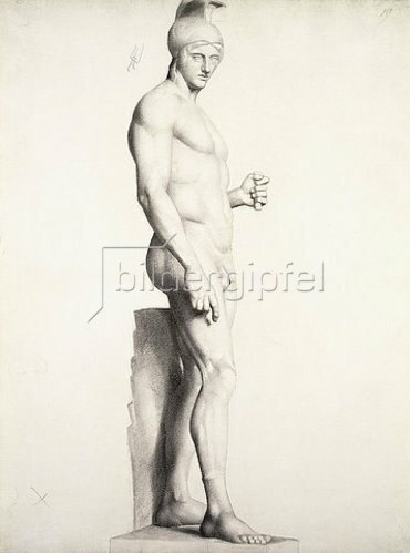 Georges Seurat: Krieger mit Helm, im Profil. 1875-78