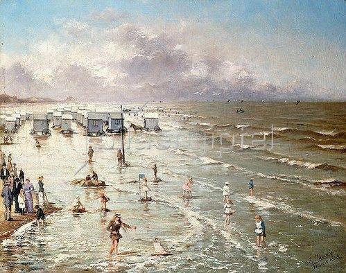 Adolphe Jacobs: Der Strand in Ostende. 1892