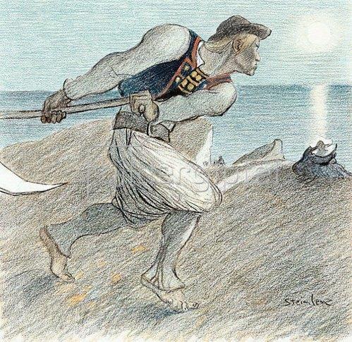 Théophile-Alexandre Steinlen: Der Sensenmann (Le Grand Faucheur).