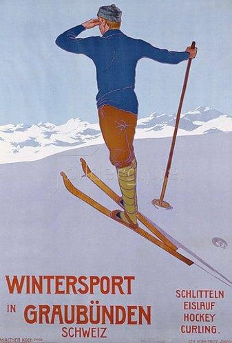 Walter Koch: Wintersport in Graubünden. 1906