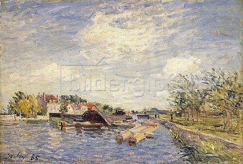 Alfred Sisley: Am Ufer des Loing. 1885