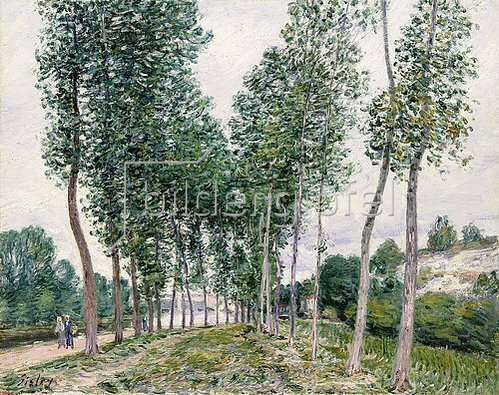 Alfred Sisley: Pappelallee am Ufer des Loing. 1892