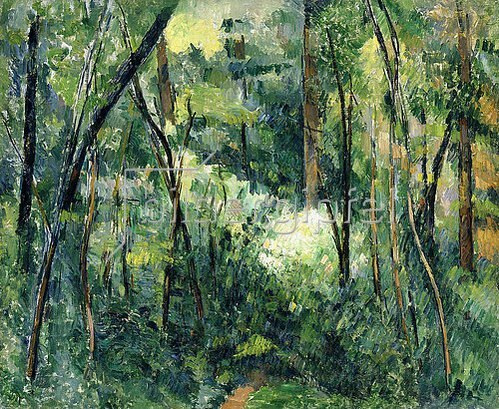 Paul Cézanne: Unterholz (Sous-bois). Um 1885