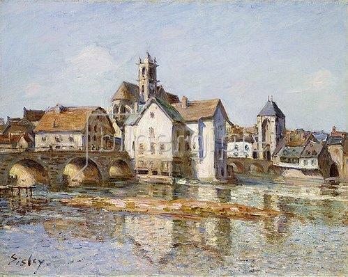Alfred Sisley: Die Brücke von Moret. 1892