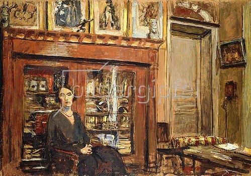 Edouard Vuillard: Frau in einem Interieur. Um 1920