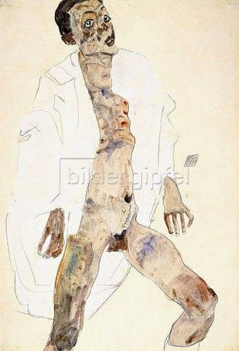 Egon Schiele: Stehender Mann (Selbstbildnis). 1911
