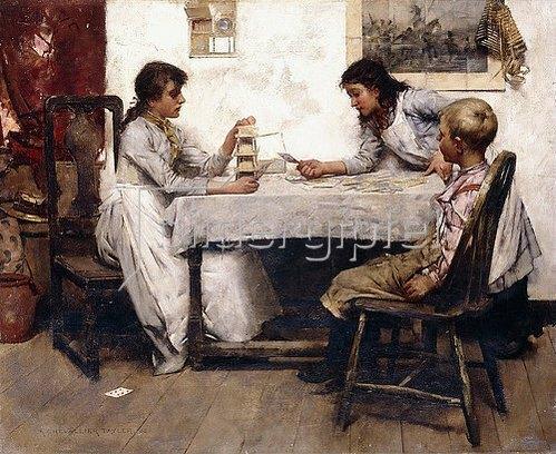 Albert Chevallier Tayler: Das Kartenhaus. 1888