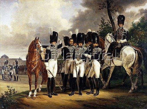 Emile Jean Horace Vernet: Porträt des Generals Marquis de Talhouët-Roy. 1818-19