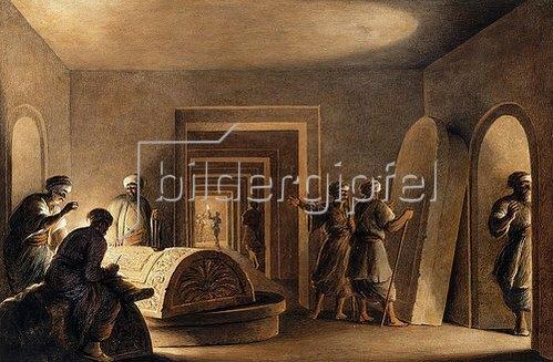 Luigi Mayer: In einer ägyptischen Grabkammer.