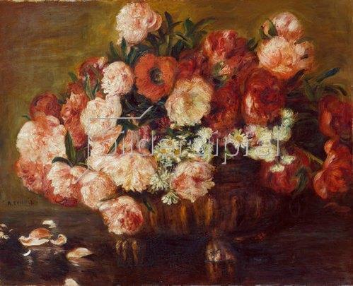 Auguste Renoir: Stilleben mit Pfingstrosen. 1872.