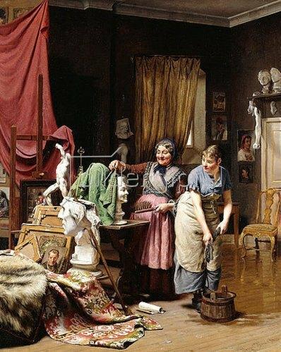 Wenzel Ulrik Tornøe: Im Atelier. 1882