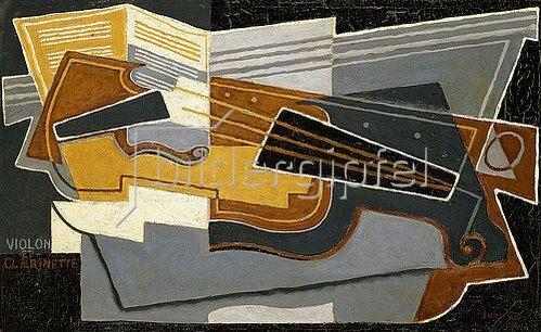 Juan Gris: Geige und Klarinette. 1921