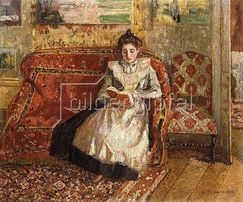 Camille Pissarro: Jeanne beim Lesen. 1899