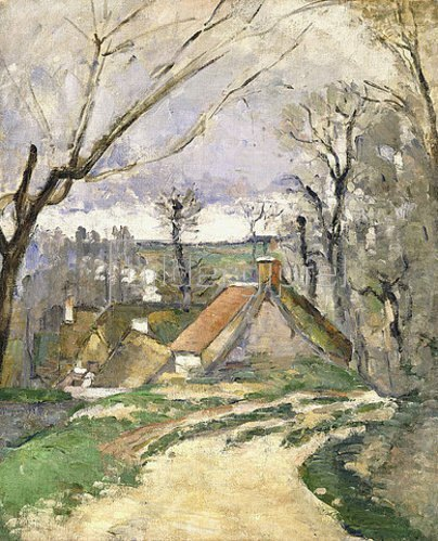 Paul Cézanne: Häuser in Auvers (Les chaumières à Auvers). 1872-73