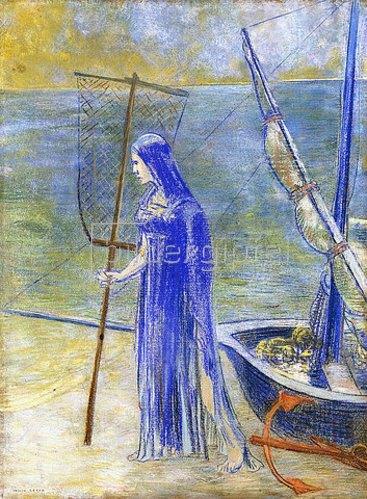 Odilon Redon: Die Fischerin. 1900